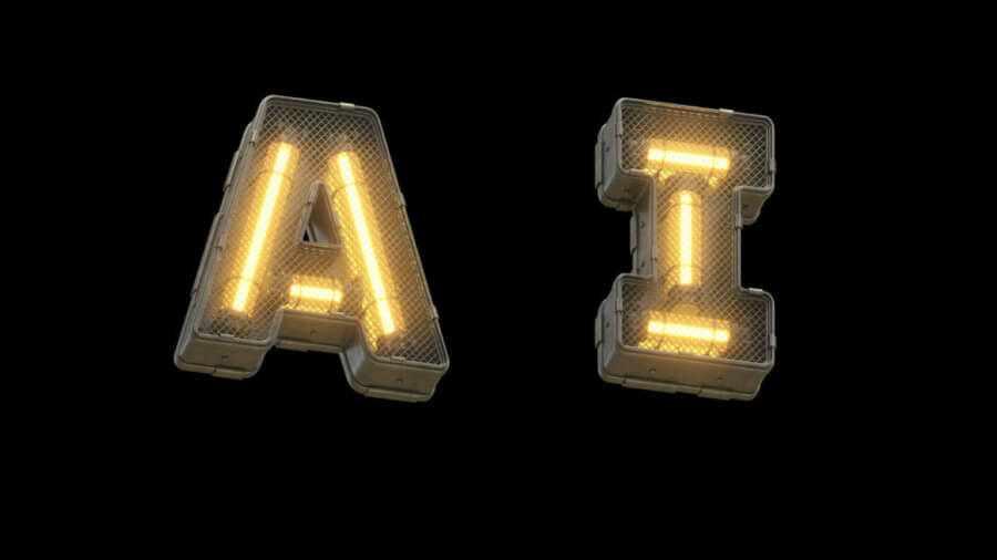 Ai Exist Artificial Intelligence Futuristic Light Font 3d Rendering 702106546 900x506